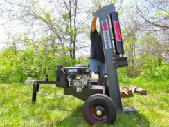 Getting Your Firewood Stacked Quick Using A Log Splitter